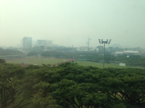 Haze in Singapore on 6 October 2015.