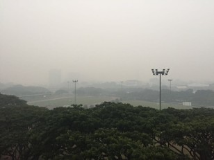 14 Sep 2015: National University of Singapore during the major 2015 haze event